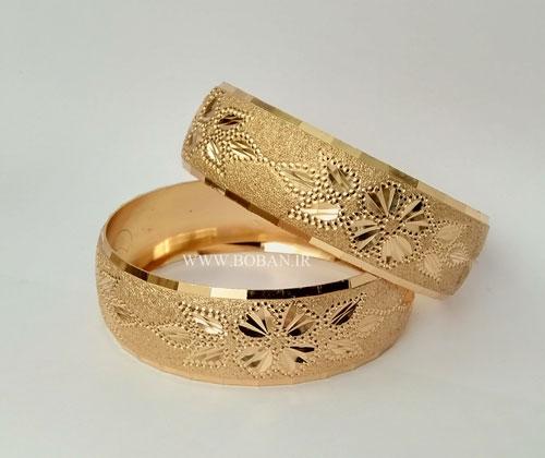طلا روس دو سانتی طرح گل