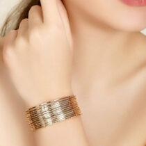 النگو طلا روس بسته 24 عددی طلایی و سفید