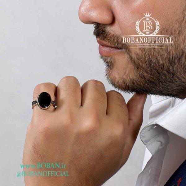انگشتر-طلا-روس-مردانه-طرح-بیضی