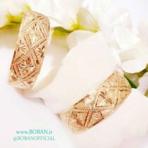 تک پوش طلا روس دو سانتی طرح گل دار