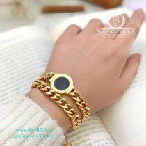 دستبند بولگاری(BVLGARI) فول استیل و رنگ ثابت