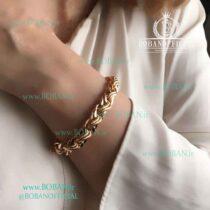 دستبند ژوپینگ طرح طلا دو لاین